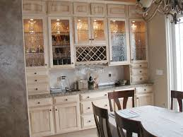 image of antique glass kitchen cabinets