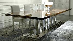 art deco round dining table art round dining room table wooden stainless steel rectangular art deco