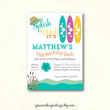 doc printable birthday party invitations for brave printable pool party invitations for teens about luxury printable birthday party invitations