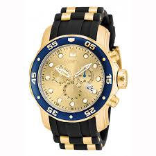 invicta men 039 s pro diver quartz multifunction gold dial watch invicta men 039 s pro diver quartz multifunction