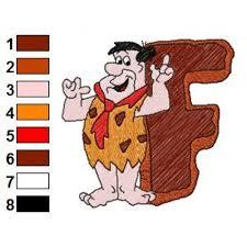 Flintstones Embroidery Designs Alphabets F With The Flintstones Embroidery Design