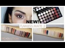makeup revolution flawless matte 2 eyeshadow palette swatches