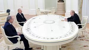 Putin, Aliyev ve Paşinyan arasındaki Dağlık Karabağ görüşmesi sona erdi! 3  ülke ortak çalışma grubu kuracak - Son Dakika Haberleri