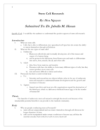 researched argument essay example my argumentative essay  stem cell research arguments essay examples researched argument essay example