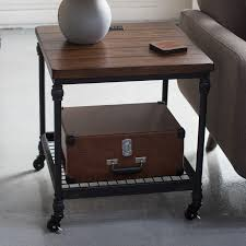 Belham Living Archer Industrial End Table With Power Outlet