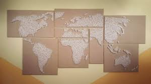 How to Make a String Art WORLD MAP