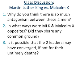 Differences Between Mlk And Malcolm X Venn Diagram In 1954 The Civil Rights Movement Began With