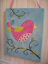 custom bird painting 11 x 14 kids girl kid room decor baby nursery wall