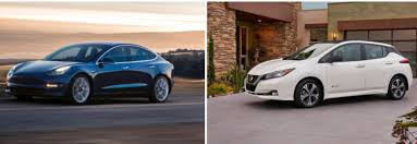 2018 nissan leaf pictures. brilliant nissan tesla model 3 vs 2018 nissan leaf u2013 a side by comparison throughout nissan leaf pictures