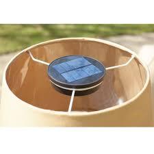 the solar powered patio table lamp
