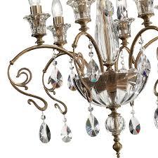 classic antiqued brass swarovski crystal chandelier