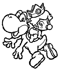 Small Picture cool Yoshi Coloring Pages To Print Colouring Pages Pinterest