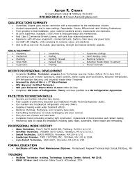 Maintenance Technician Resume Extraordinary Aaron Crown Facilities Maintenance Tech Resume