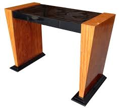 french art deco black lacquer and satinwood console table art deco furniture information