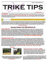 Trike Tips, October 2020 / by Glen Aldridge   Trike Asylum