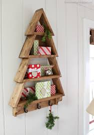 it s just 1x4 boards stacked to create a tree shelf you could fill with decor as jaime has done or with cards or candles or family photos