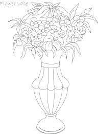 Flower Pot Color Pages Coloring Page Of A Flower Coloring Page
