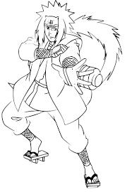 Coloriage Jiraiya Naruto Imprimer