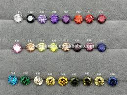 Full Color Chart Full Fancy Color Of Color Chart Colored Cz Gems Loose Round Cubic Zirconia Rough For Waxing Buy Loose Cubic Zirconia Fancy Color Cubic