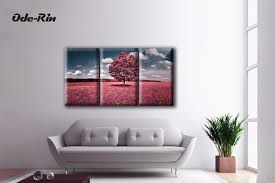 ode rin original oil painting on canvas paintings 3 piece canvas art red woods diy on 3 piece canvas wall art diy with ode rin original oil painting on canvas paintings 3 piece canvas art
