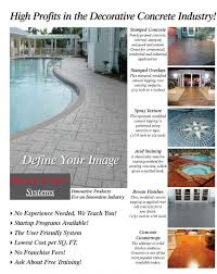 the renew crete system was developed with the applicator in mind thereby creating a user friendly decorative concrete system