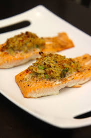 Read the full recipe after the video. Crab Stuffed Salmon Video Recipe Cooked By Julie