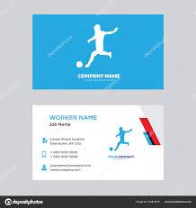 Soccer Business Card Girl Soccer Business Card Design Stock Vector