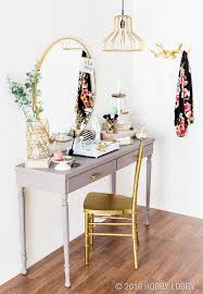 Makeup Table Give Your Vanity Boutique Y Vibes With Glamorous Gold Accents