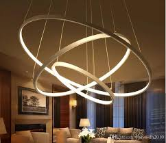 modern circular ring pendant lights 3 2 1 circle rings acrylic aluminum led lighting ceiling lamp fixtures for living room dining room vintage light