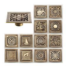 new arrival antique brass 1212cm square floor drain shower drain bathroom furniture hj antique furniture cleaning