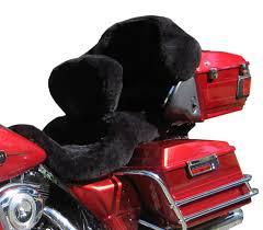 harley sheepskin motorcycle seat covers black