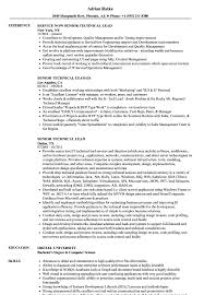Technical Lead Resume Senior Technical Lead Resume Samples Velvet Jobs 2