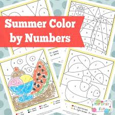 You'll find a growing set of holiday and seasonal themes that i'll be adding to over time. Summer Color By Number Worksheets Itsybitsyfun Com