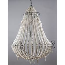 emac lawton beaded chandelier large white