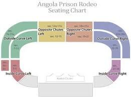 Seating Chart Trips Angola Rodeo Texas Travel Rodeo