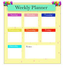 Weekly Planner Online Printable 4 Weekly Planner 2020 Templates Pdf Excel Best