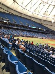 Rays Seating Chart With Rows Tropicana Field Section 124 Home Of Tampa Bay Rays