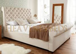 upholstered bed frame. Image Is Loading Scroll-Deep-Button-Upholstered-Bed-Frame-Velvet-Chenille- Upholstered Bed Frame
