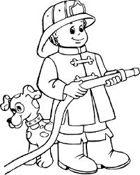 Coloriage Pompier Gratuit Imprimer