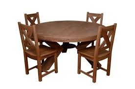 triomphe weathered oak 6 person round dining table 4 solid oak dining chairs all dining collections meubles