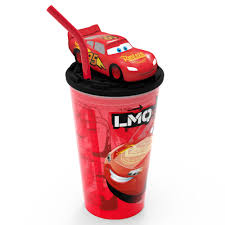 Zak Designs Straws Cars Lightning Mcqueen Zak Designs 15oz Plastic Cup With Lid