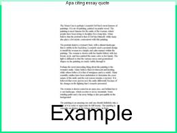 Citing A Quote Gorgeous Apa Citing Essay Quote Coursework Writing Service