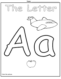Preschool Letter A Worksheets Worksheets for all   Download and ...