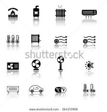 heating cooling icon. heating and cooling icons icon