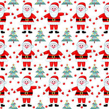 Christmas Pattern Background Stunning Santas seamless pattern On white Vector christmas background Stock