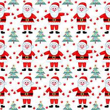 Christmas Pattern Background Stunning Santas Seamless Pattern On White Vector Christmas Background Stock