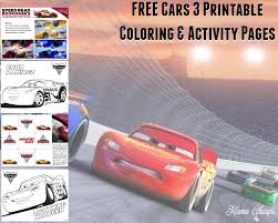 Small Picture FREE Cars 3 Printable Coloring Pages Activity Sheets Mama Cheaps