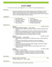 breakupus remarkable marketing resume example marketing resume lovely marketing resume examples by aiden marketing resume delectable resume objective section also modern resume formats in addition
