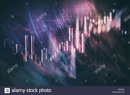 Code Stock Chart Close Up Of Abstract Business Chart Bars And Arrows On Dark