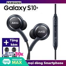Tai nghe nhét tai AKG S10+ dây cáp bọc dù chắc chắn hàng FULLBOX - Tặng kèm  4 núm silicon thay thế giá rẻ 38.728₫